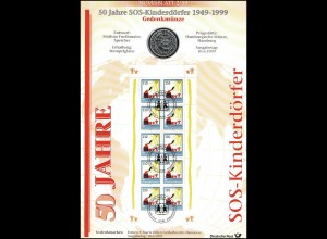 2062 SOS-Kinderdorf - Numisblatt 2/99