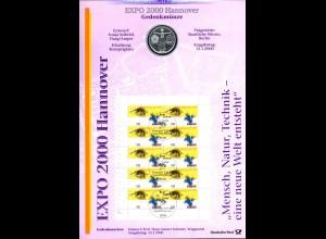 2089 EXPO 2000 Hannover - Numisblatt 2/2000