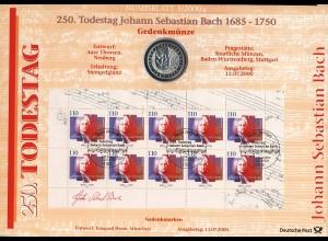 2126 Johann Sebastian Bach - Numisblatt 3/2000