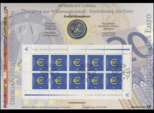 2234 Einführung des Euro - Numisblatt 1/2002