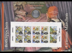 3208-3210 Grimms Märchen: Rotkäppchen - Numisblatt 1/2016