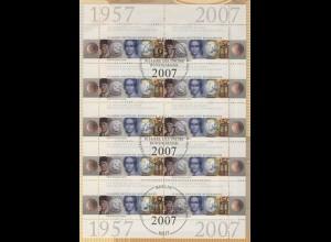 2618 50 Jahre Deutsche Bundesbank - 10er-Bogen auf Kartonvorlage, ESST