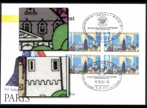 Ausstellungsbeleg Nr. 2 Eurosalon 1994 mit 2 PLF 1721I und Fensterausbruch