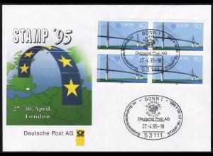 Ausstellungsbeleg Nr. 5 STAMP 1995 ohne Cachet-O