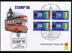 Ausstellungsbeleg Nr. 11 STAMP London 1996, SSt Bonn 25.4.96