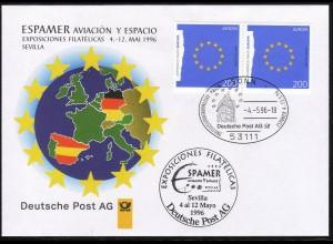 Ausstellungsbeleg Nr. 12 ESPAMER Sevilla 1996, SSt Bonn 4.5.96