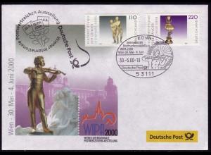 Ausstellungsbeleg Nr. 50 WIPA Wien 2000, SSt Bonn 30.5.00