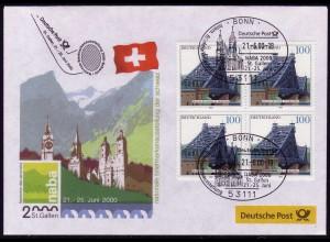 Ausstellungsbeleg Nr. 52 NABA St. Gallen 2000, SSt Bonn 21.6.00