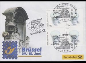 Ausstellungsbeleg Nr. 62 BELGICA Brüssel 2001, ohne Angabe der Bild-Quelle