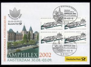 Ausstellungsbeleg Nr. 72 AMPHILEX Amsterdem 2002, SSt Bonn 30.8.02