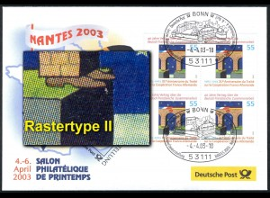 Ausstellungsbeleg Nr. 78 SALON PHILATELIQUE Nantes 2003 mit 2311 Type II