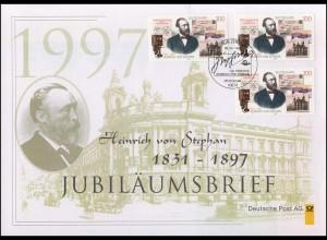 1912 Heinrich von Stephan & Postmuseum Berlin 1997 - Jubiläumsbrief