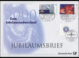 2078+2079+2087 Millennium 1999/2000 - Jubiläumsbrief