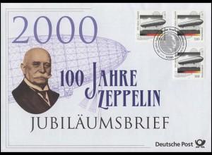 2128 Zeppelin-Luftschiffe 2000 - Jubiläumsbrief