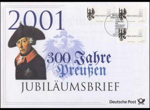 2162 Friedrich der Große & 300 Jahre Preußen 2001 - Jubiläumsbrief