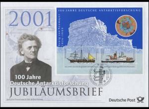 Block 57 Antarktisforschung 2001 - Jubiläumsbrief