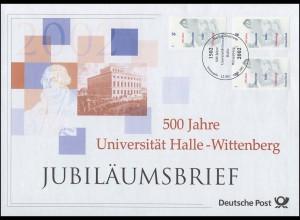 2254 Universität Halle-Wittenberg & Martin Luther 2002 - Jubiläumsbrief