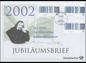 2269 Germanisches Nationalmuseum Nürnberg 2002 - Jubiläumsbrief