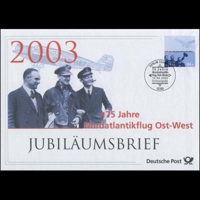 2331 Nordantlantikflug 2003 - Jubiläumsbrief