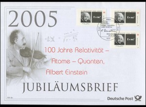 2475 Albert Einstein & Relativität Atome Quanten 2005 - Jubiläumsbrief der Post
