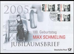 2489 Max Schmeling 2005 - Jubiläumsbrief