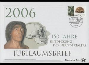 2553 Archäologie & 150 Jahre Entdeckung des Neandertalers 2006 - Jubiläumsbrief