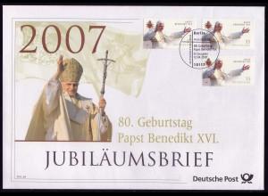 2599 Geburtstag von Papst Benedikt XVI. 2007 - Jubiläumsbrief