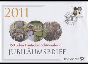 2881 Deutscher Schützenbund 2011 - Jubiläumsbrief