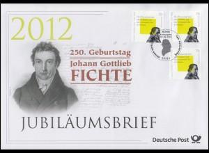 2934 Erzieher und Philosoph Johann Gottlieb Fichte 2012 - Jubiläumsbrief