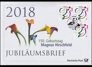 3403 150. Geburtstag von Magnus Hirschfeld (1868-1935) Symbole Jubiläumsbrief