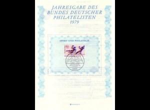 BDPh-Jahresgabe 1979 Sporthilfe Handball