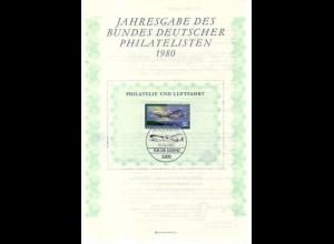 BDPh-Jahresgabe 1980 Jugendhilfe Luftfahrt