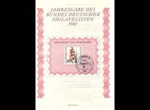 BDPh-Jahresgabe 1981 Berlin Wofa Sumpfgladiole