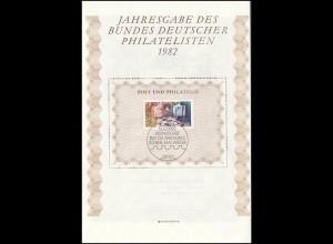 BDPh-Jahresgabe 1982 Tag der Briefmarke Schreibtisch