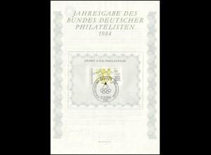 BDPh-Jahresgabe 1984 Sporthilfe Diskuswerfen