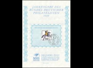 BDPh-Jahresgabe 1989 Wofa Postbeförderung Reiter