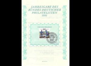 BDPh-Jahresgabe 1991 Tag der Briefmarke Briefträger