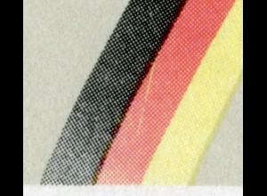 1481-1482 EB 2/1990, PLF Block 22II gelber Strich im Rot, mit ESST Bonn/Berlin