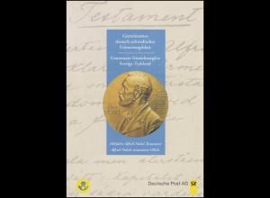 1828 Alfred Nobel - EB 1/1995 Ersttagssonderstempel Bonn 9.11.95