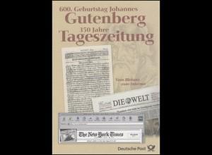 2123 Johannes Gutenberg & Tageszeitung - EB 1/2000