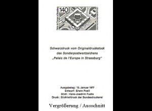 Schwarzdruck aus JB 1976 Europarat Palais de I'Europe