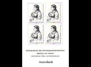 Schwarzdruck aus JB 1985 Berlin Bettina von Arnim SD 2