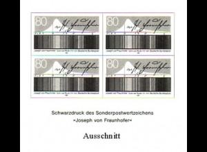 Schwarzdruck aus JB 1987 Joseph von Fraunhofer SD 11