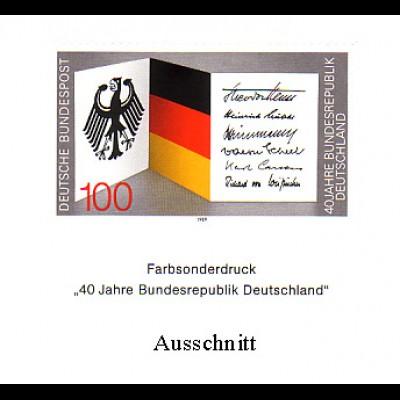 Farbsonderdruck aus JB 1989 Bund 1421 40 Jahre BRD