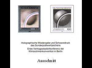 Schwarzdruck aus JB 1995 Klimaschutz mit Hologramm SD 18