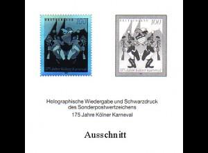 Schwarzdruck aus JB 1997 Karneval mit Hologramm SD 20
