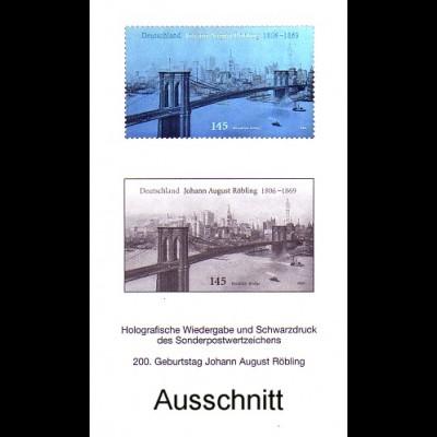 Schwarzdruck aus JB 2006 Röbling und die Brooklyn Bridge, mit Hologramm SD 29