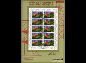 1. Messe-Edition Essen mit 10er-Bogen Ruhrgebiet 2005 mit Original-Unterschrift
