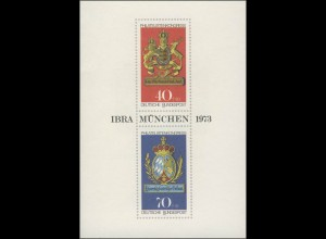 Jahresgabe der Post IBRA & Philatelistenkongreß München, SSt München 21.5.73