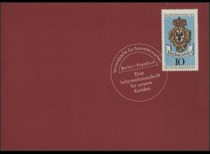 Jahresgabe der Post Block 11 Friedensnobelpreisträger, ESSt Bonn 14.11.1975